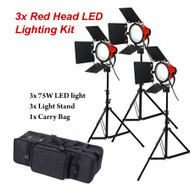 Fotolux  2x / 3x  FL-007 75W Red Head LED Lighting Kit