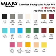 Emaily 2.72m x 10m Seamless Background Paper Roll (Paper Made in USA)