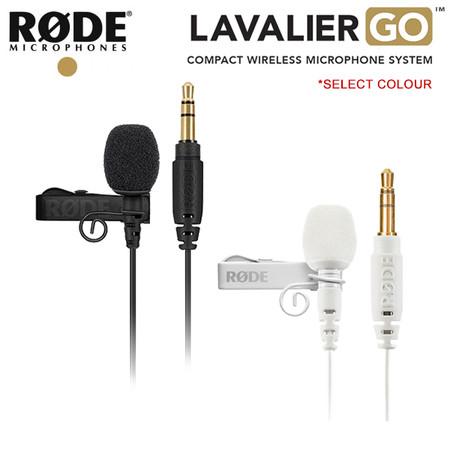 Rode Lavalier GO / Lapel Microphone [ Black / White ] ( 3.5mm TRS jack )