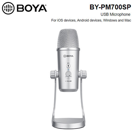 BOYA BY-PM700SP USB Microphone for iOS , Android , PC , Mac (USB / Type-C /Lightning)