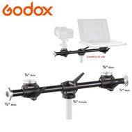 Godox LSA-10 Dual Mount Arm for Tripod (Mount 2 - 4 Cameras)