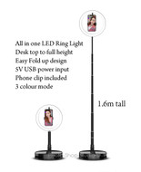 Fotolux LED-G1 All in one LED Ring beauty make-up light