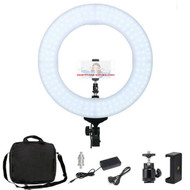 "Fotolux FL-10 14"" 60W LED Ring Light with Phone Holder (2700-5500K)"