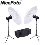Nicefoto 2x HB-1000BII Portable Li-ion Battery LED Video Lighting Kit (2 Lights)