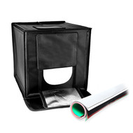 Fotolux 48W Easy Fold Portable LED Light Tent Products photography ( 77 x77 x 77cm ) with 5 colours PVC