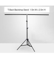 Fotolux  1.5 m x 2m T-Back Background Support Stand for Products  Photography