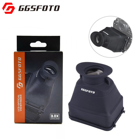 "GGSFOTO S8 Universal LCD Optical Viewfinder for 3.0""- 3.2"" LCD Screen (3X)"