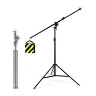 Fotolux BS2140 Aluminium Boom Stand (1.8m H x 2.1m W) for Professional Use (Rotatable)