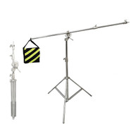 Fotolux BS2148SS Stainless Steel Boom Stand (1.95m H x 2.2m W) for Professional Use (Rotatable)