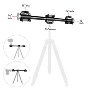 Fotolux TCB100CC Dual Mount Cross Bar (1m) with 2 Clamps for Tripod Flat Lay photography