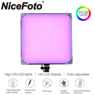 Nicefoto TC-668 40W Pro RGB LED Panel Video Light (3200K-6500K) with AC Power Adapter
