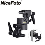 Nicefoto B-07 Double Super Clamp  ø13-55mm for Pole , Tripod , Crossbar (Max Load 15kg)