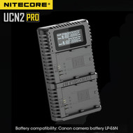 Nitecore UCN2 Pro USB Dual Slot Battery Charger for Canon LP-E6N
