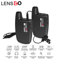 LENSGO LWM-308C Lavalier / Lapel Wireless Bee Microphone Set ( 1 Transmitter + 1 Receiver )