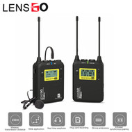 LENSGO LWM-328C Lavalier / Lapel Wireless Microphone Set with TF card slot (1 Transmitter + 1 Receiver)