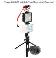 Vlogger Kit RVM with Godox MT-01 & LED64 + Rode VideoMicro (3.5mm port)