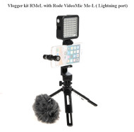 Vlogger Kit RMeL with Godox MT-01 & LED64 + Rode VideoMic Me-L (iOs Lightning port)