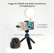 Vlogger Kit RMeY08 with Benro PP1 and Rode VideoMic Me-L (iOs Lightning port)