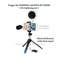 Vlogger Kit B200Y08S with Benro MK10P Selfie and BOYA BY-DM200 (iOs Lightning port)