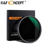 K&F Concept ND8-ND2000 VND Variable Fader NDX  Waterproof Neutral Density Filter (Premium Japan Optics glass)