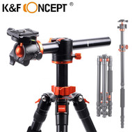 K&F Concept  SA254T2 1.85m Aluminium 4-section Tripod / Monopod  with Horizontal Column (Max Load 10kg , Twist Lock)