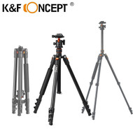 K&F Concept SA234 1.6m DSLR Aluminium 4-section Tripod with Ball Head (Max Load 10kg , Flip Lock)