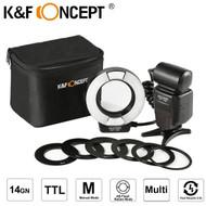 K&F Concept KF150 TTL Macro Ring Flash for Nikon (5500K)