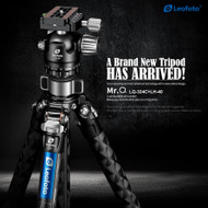 Leofoto LQ-324C+LH-40 Mr.Q  series Carbon Fibre  4-section Tripod with Centre column (Max Load 15kg , Twist Lock)