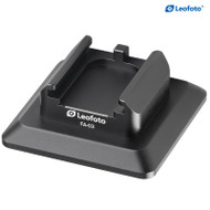 """Leofoto FA-03 Cold Shoe Conversion Adapter with 1/4"""" Mounting Hole for Arca-Swiss Clamp"""