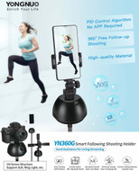 Yongnuo YN360G Smart Following Shooting Phone Holder (Black , 360° Rotation Auto )