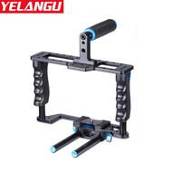 Yelangu C2 Aluminium Camera Cage with 15mm Rod for Canon 5D2