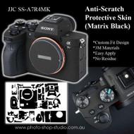 JJC SS-A7R4MK Anti-Scratch Protective Skin Film for Sony A7R IV (Matrix Black , 3M Material)