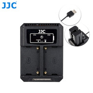 JJC DCH-NPF USB Dual Battery Charger for Sony NP-F550 / F750 / F970