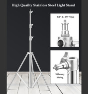 Fotolux QiH-J288SS Stainless Steel Light Stand 2.8m tall ( Large size )