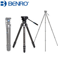 Benro TTOR34CLV+S4PRO Tortoise Columnless #3 Carbon Fiber 4-section Tripod with Leveling Base (Max Load 20 kg ,  Twist Lock)
