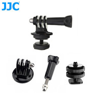 JJC GP-J11-HS Tripod Mount Adapter +  Long Screw & 1/4'' cold shoe adapter for GoPro Hero  4 ,  3+ ,  3 ,  2 , 1