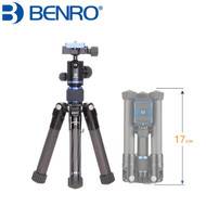 Benro SC08 Carbon Fiber Mini 4-section Tripod with B00G Ball Head (Max Load 5kg)