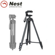 Nest NT-510 1.3m Compact Aluminium Video 4-section Tripod Kit (Max Load 2.5kg , Flip lock)