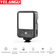 Yelangu LED02  2-in-1 5W LED Light with Built-in Microphone (6500K) for Smartphone / Camera