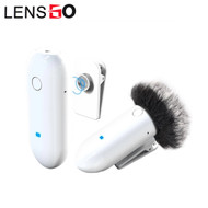 LENSGO LWM-318C Lavalier / Lapel Wireless Microphone Set - White (1 Transmitter + 1 Receiver)