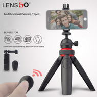 LENSGO L322 Table Top Bluetooth Mini Tripod with Phone Clip (Max Load 3kg)
