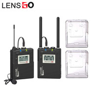 LENSGO LWM-338C Lavalier / Lapel Wireless UHF Microphone Set (1 Transmitter + 1 Receiver)