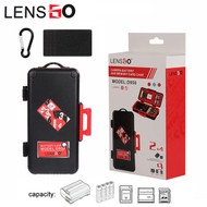 LENSGO D950 Camera Battery / Memory Card Case (Red)