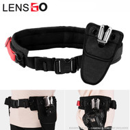 LENSGO UDK-11D Camera Belt Strap with UK-A8S Transformers Metal Waist Buckle (Black)