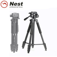 Nest NT-553B 1.6m Aluminium Compact Video 3-section Tripod (Max Load 3.5 kg , Flip Lock)