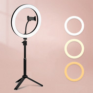 "Fotolux OL-K30 10"" 15W USB LED Ring Light with Tripod & Phone Holder (3300-5600K)"