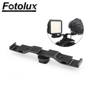 Fotolux Triple Hot Shoe Bracket for Monitor / Light / Microphone