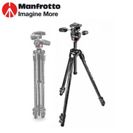 Manfrotto MK290XTC3-3W 290 Xtra Carbon Fiber 3-Section Tripod with MH804-3W 3-Way Head (Max Load 4kg , Flip Lock)