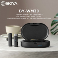 BOYA BY-WM3D 2.4GHz Wireless Microphone System for iOS devices (Lightning Connector)