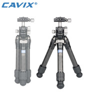 Cavix W-222D0C Carbon Fibre Table Top 2-section Tripod with Ball Head (Max Load 5kg , Twist Lock)